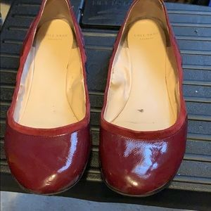 Cole Haan Size 8 Burgundy Ballet Flats